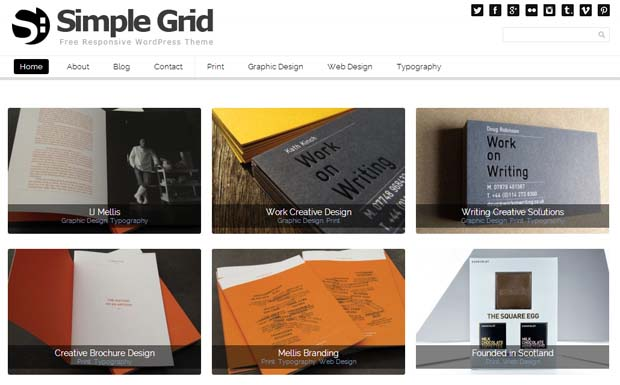 Grid - Free Responsive WordPress Theme