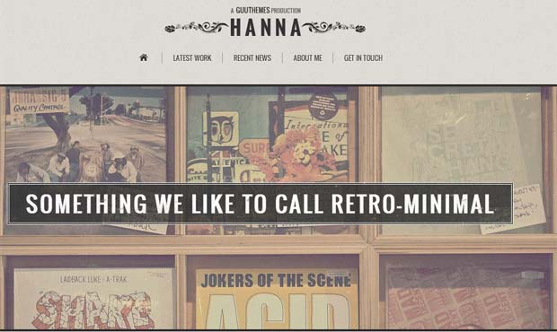 Hanna - Responsive Vintage WordPress Theme