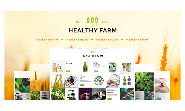 Healthy Farm - Agriculture WordPress Themes