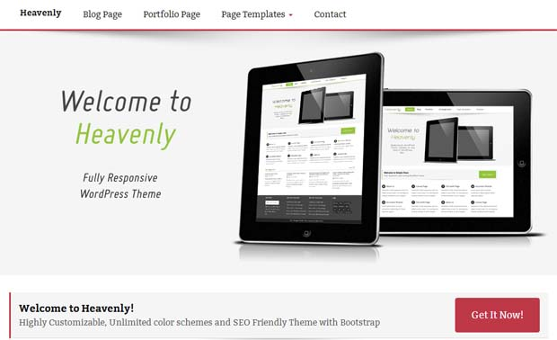 Heavenly - Free Responsive WordPress Theme