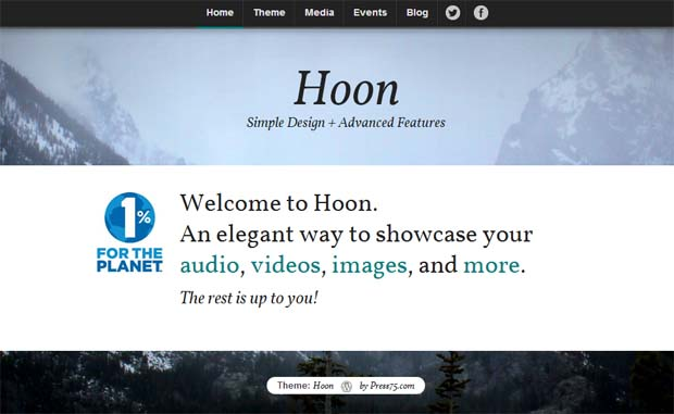 Hoon - Responsive HTML5 WordPress Theme