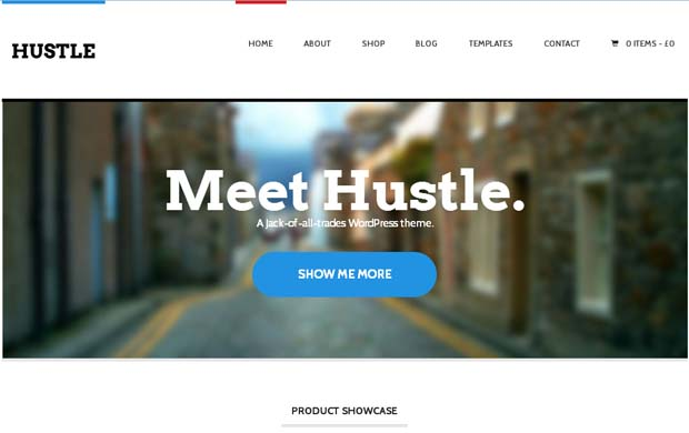 Hustle - Responsive HTML5 WordPress Theme