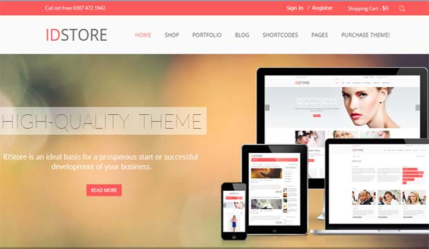 IDStore - Responsive eCommerce WordPress Theme