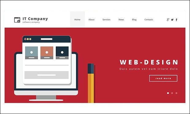 IT Company - HTML5 WordPress Themes