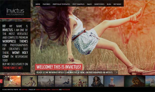 Invictus - Responsive Photography WordPress Theme
