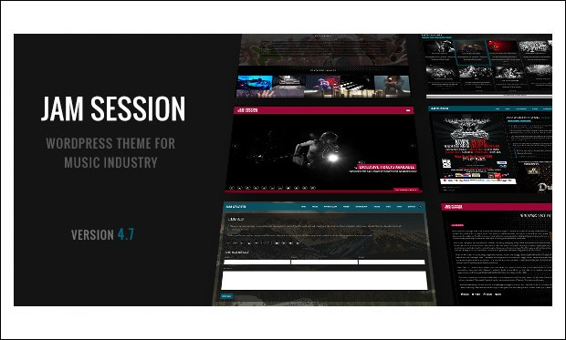 JamSession - Musicians WordPress Themes