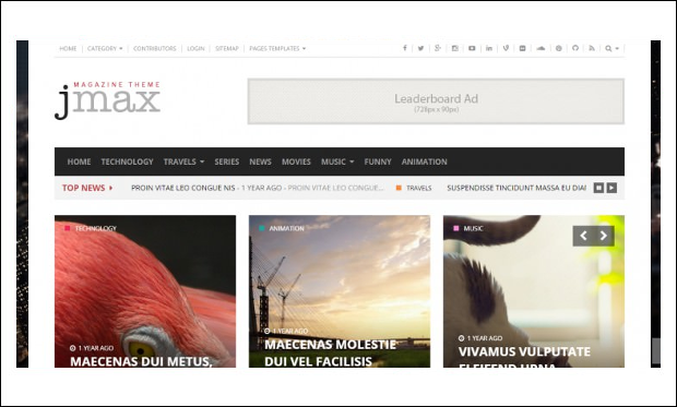 Jmax - Review Websites WP Themes