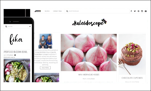 Kaleidoscope - Cooking Recipe WordPress Themes