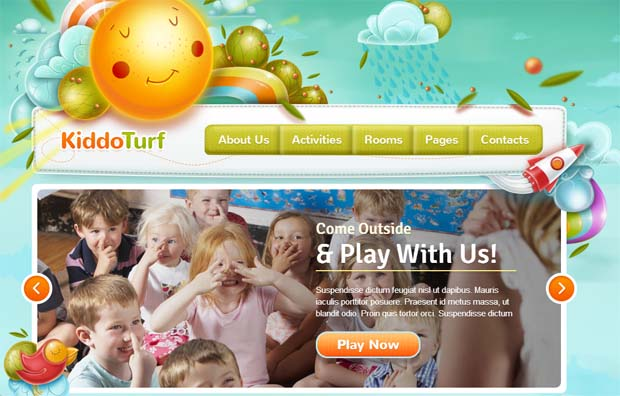 Kiddo Turf - Responsive SEO Friendly WordPress Theme