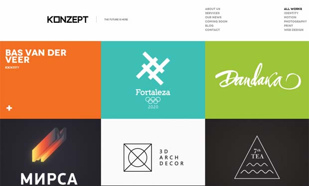 Konzept - Responsive Full Screen WordPress Theme