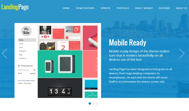 Landing Page - Responsive SEO Friendly WordPress Theme