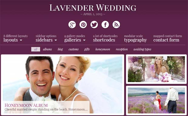 Lavender - Responsive HTML5 WordPress Theme