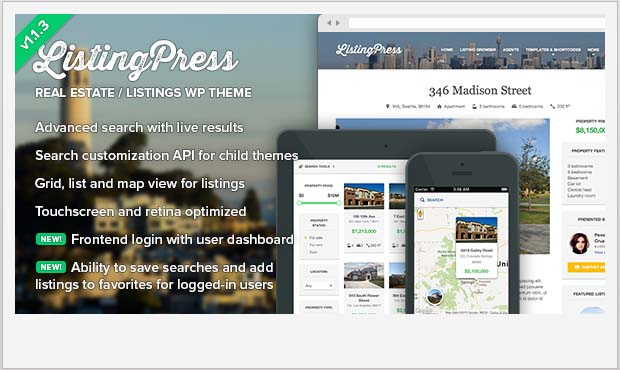 ListingPress - Commercial Real Estate WordPress Theme