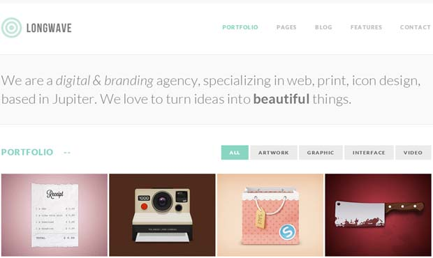 Longwave - Responsive SEO Friendly WordPress Theme