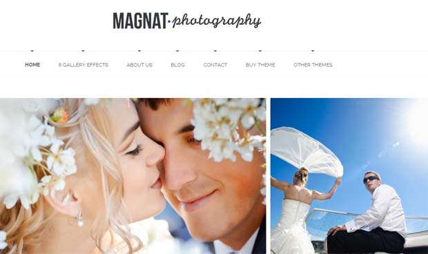 Magnat - Responsive Photography WordPress Theme