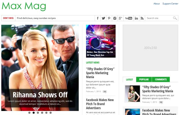 Max Mag - Responsive SEO Friendly WordPress Theme