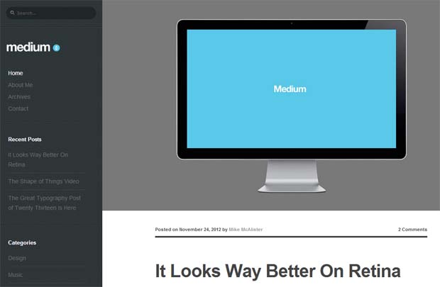 Medium - Typography WordPress Theme