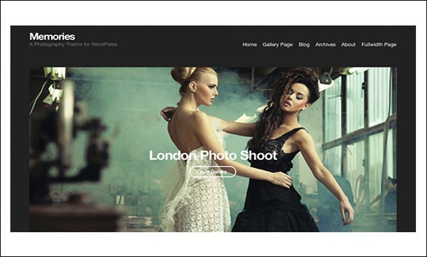 Memories - WordPress Themes for Photographers