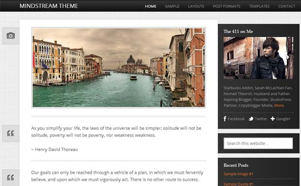 Mindstream - Responsive Tumblr WordPress Theme