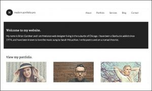 Modern Portfolio - Visual Artists WordPress Themes