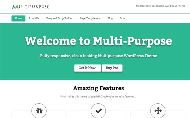 Multipurpose - Free Responsive WordPress Theme