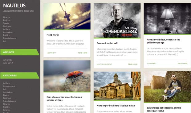 Nautilus - Free Responsive WordPress Theme