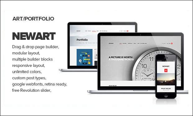 NewArt- Graphic Designer WordPress Themes