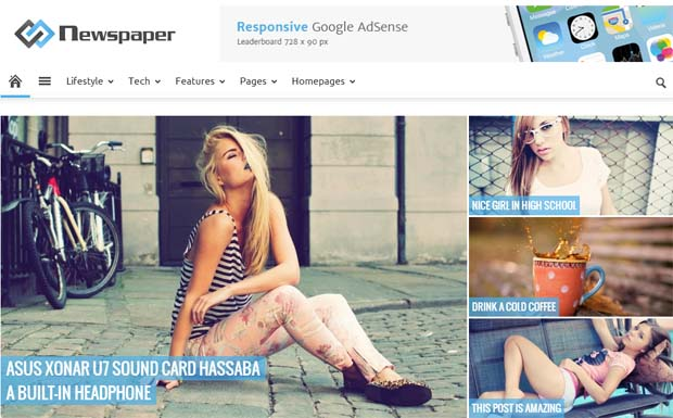 Newspaper - Responsive HTML5 WordPress Theme