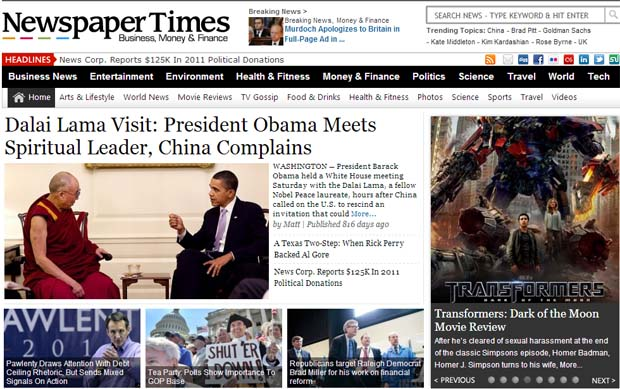 NewspaperTimes - Responsive NewsPaper WordPress Theme