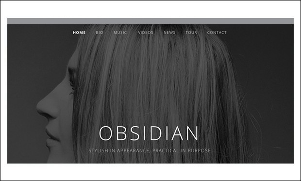 Obsidian - Musicians WordPress Themes