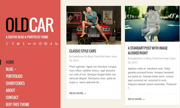 OldCar - Responsive Tumblr WordPress Theme