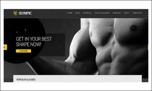 Olympic - Fitness and Gym WordPress Themes