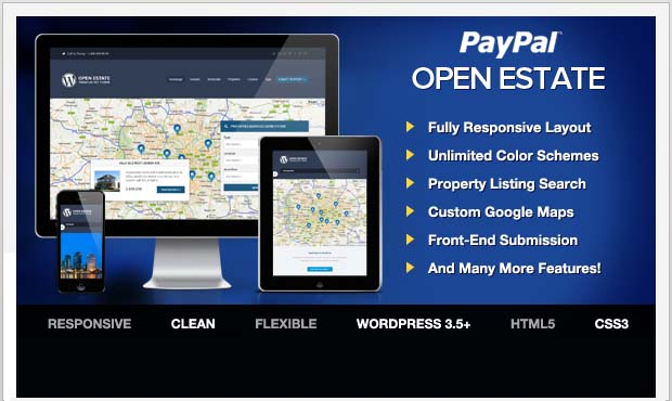 Open Estate - Commercial Real Estate WordPress Theme