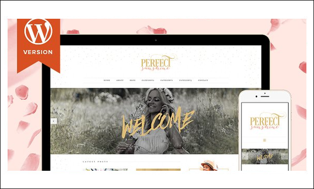 Perfect Sunshine - Bootstrap based WordPress Themes