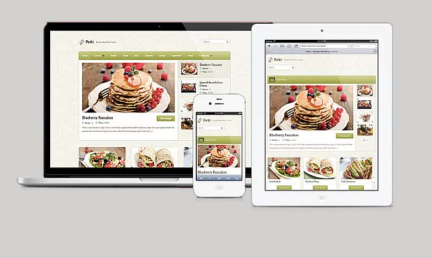 Petit - Food Recipe WordPress Theme
