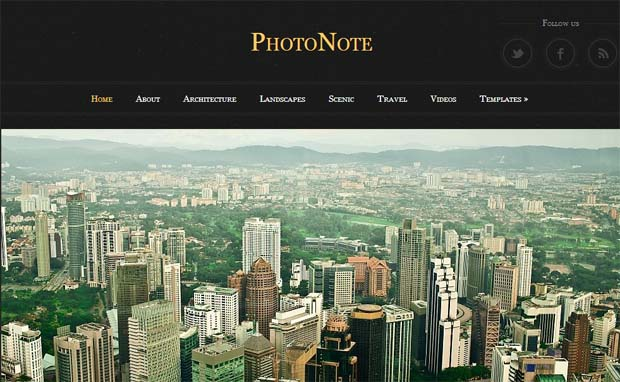 PhotoNote - Responsive Photography WordPress Theme
