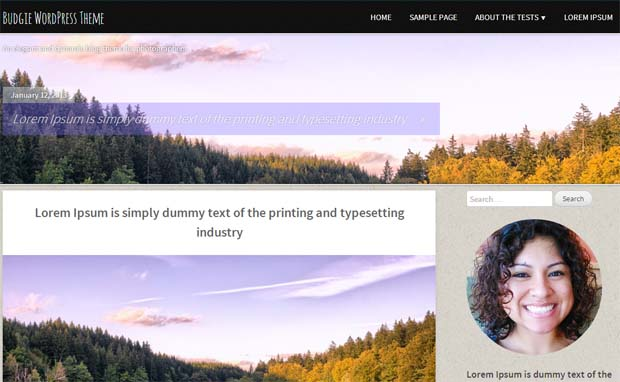 Photography Blog - Responsive Photography WordPress Theme