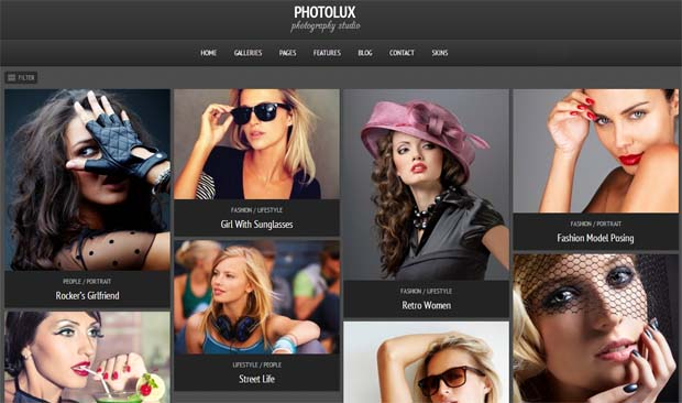 Photolux - Responsive Photography WordPress Theme
