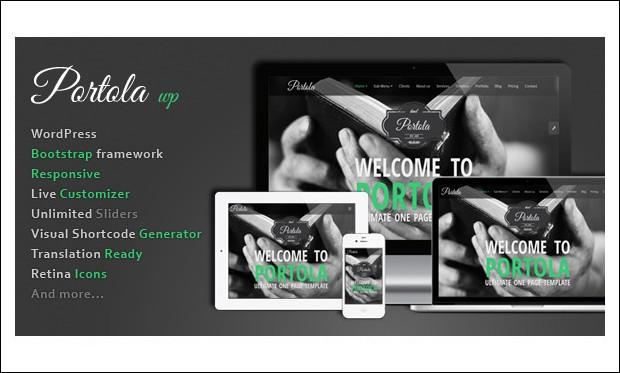 Portola - Advertising Portfolio WordPress Themes