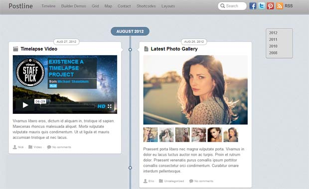 Postline - Responsive Tumblr WordPress Theme