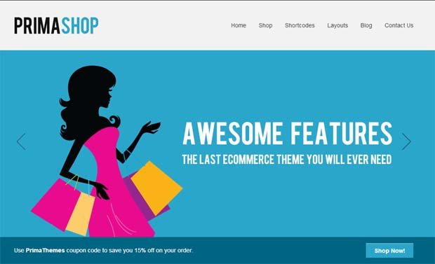 PrimaShop - Responsive eCommerce WordPress Theme