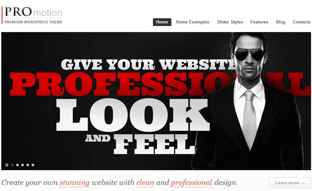 ProMotion - Responsive SEO Friendly WordPress Theme