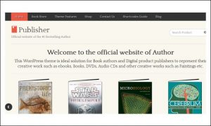 Publisher - Book Author WordPress Themes