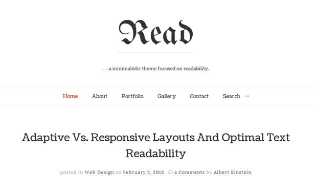Read - Responsive HTML5 WordPress Theme