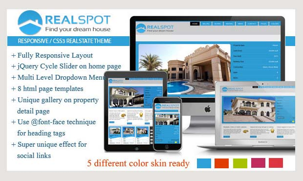 real spot commercial real estate wordpress theme