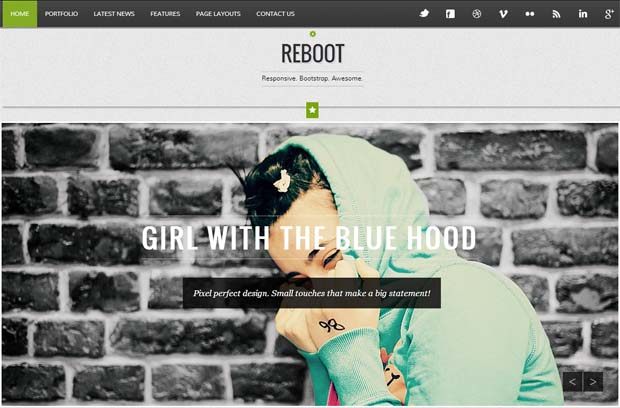 Reboot - Typography WordPress Theme