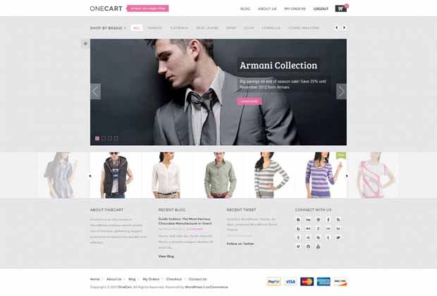 Responsive WordPress Shopping Cart Theme