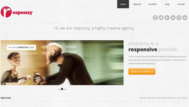 Responsy - Responsive HTML5 WordPress Theme