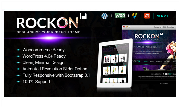 RockOn - Dance School or Studio WordPress Themes