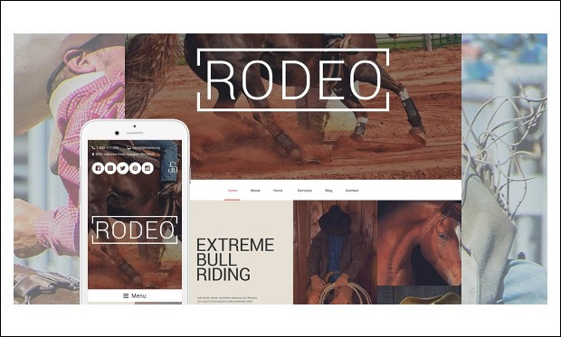 Rodeo Arena - Bootstrap based WordPress Themes
